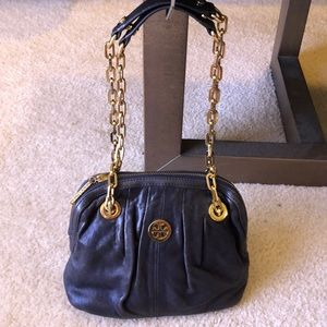 Authentic Tory Burch leather convertible mini bag